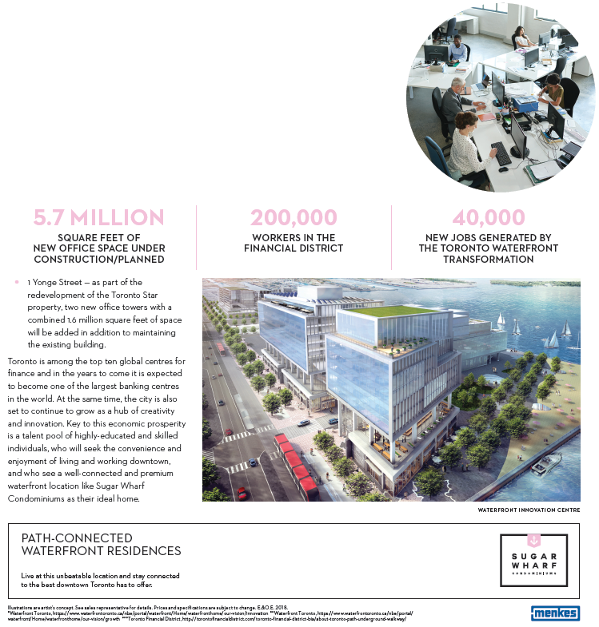 sugar wharf jobs nearby area -BuzzCondos
