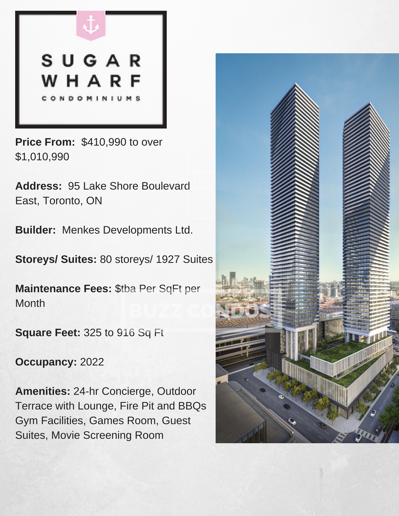 Sugar Wharf 2 project info- BuzzCondos