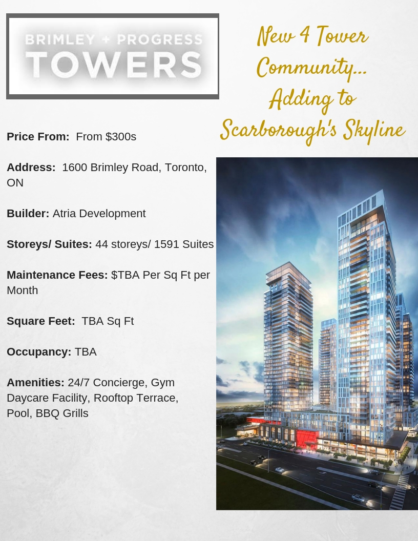 Brimley Progess Towersproject info-BuzzCondos