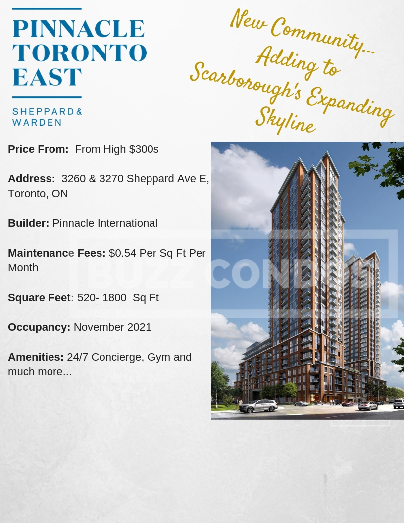 Pinnacle Toronto East Condos project info-BuzzCondos